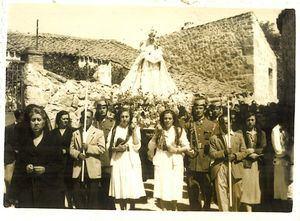 Procesión de la Virgen del Rosario en 1952