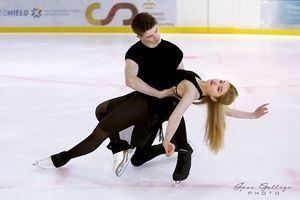 La patinadora de Torrelodones Sofía Val cambia de pareja y regresa a la competición