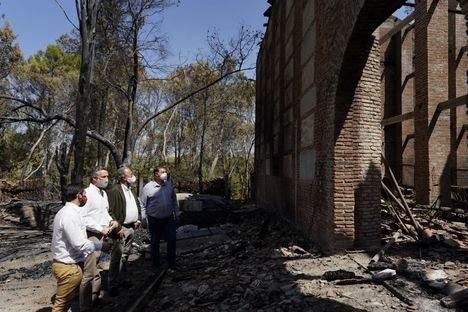 La Comunidad agradece el esfuerzo de los profesionales encargados de la extinción del incendio en Batres