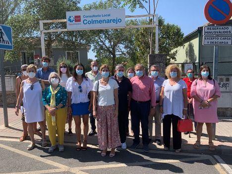 La portavoz del PSOE en la Asamblea de Madrid, Hana Jalloul, visita Colmenarejo para mostrar su apoyo a la alcaldesa