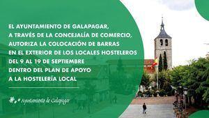 Galapagar permitirá a los locales hosteleros sacar barras a la calle del 9 al 19 de septiembre
