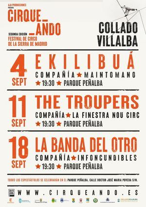 El Festival Cirqueando llega a Collado Villalba con tres espectáculos gratuitos en septiembre