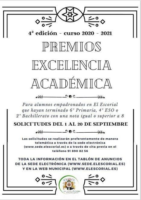 El Escorial convoca la IV Edición de los Premios a la Excelencia Académica