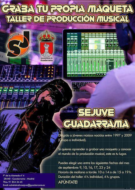 El SEJUVE de Guadarrama pone en marcha un taller básico de producción musical