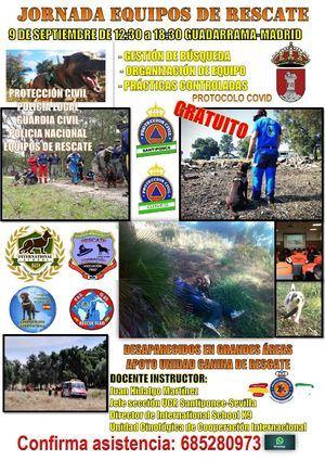 Guadarrama acoge una Jornada de equipos de rescate para Cuerpos y Fuerzas de Seguridad y Protección Civil