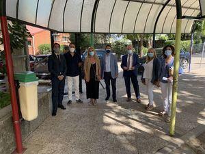La alcaldesa y la concejala de Educación de Collado Villalba visitan el colegio Vázquez Díaz