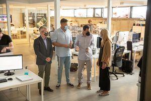 Visita institucional a Alebat Education, empresa de Collado Villalba dedicada al desarrollo de plataformas tecnológicas