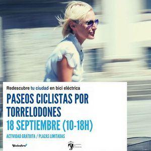 El Ayuntamiento de Torrelodones organiza paseos en bicicleta eléctrica con motivo de la Semana de la Movilidad