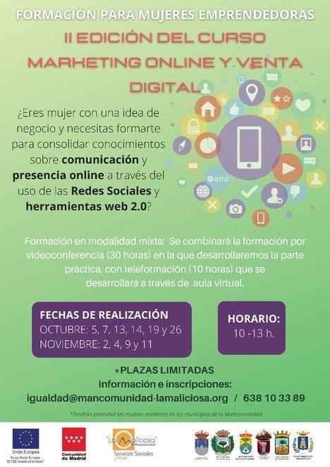 La Mancomunidad La Maliciosa abre las inscripciones para el Taller de Marketing Online para empresarias