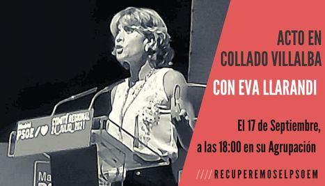 Eva Llarandi, precandidata a la Secretaría General del PSM, visita Collado Villalba este viernes