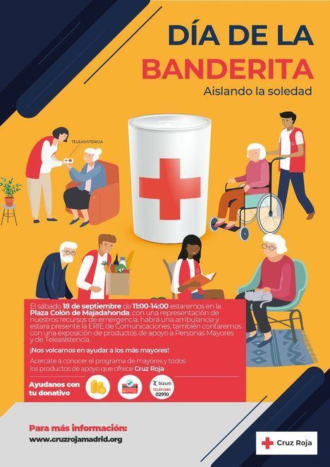 Cruz Roja celebra este sábado, 18 de septiembre, el Día de la Banderita en Majadahonda