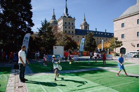 La Copa Davis llega a San Lorenzo con pistas de mini-tenis para fomentar este deporte entre los más pequeños