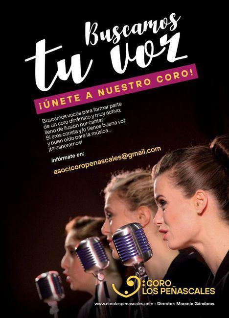 El Coro Los Peñascales busca cantantes para su nueva temporada
