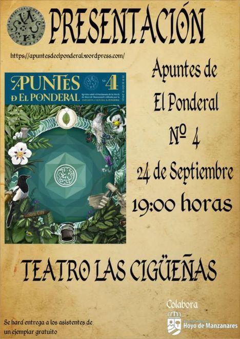 Este viernes se presenta en Hoyo de Manzanares un nuevo número de Apuntes de El Ponderal