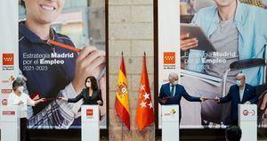 La Comunidad presenta su Estrategia Madrid por el Empleo 2021-2023 tras el acuerdo con CEIM, CCOO y UGT