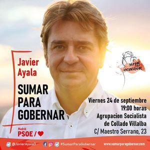 Javier Ayala, precandidato a la Secretaría General del PSM, visita Collado Villalba este viernes