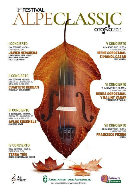 Alpedrete presenta su primer Festival de música clásica, Alpeclassic 2021