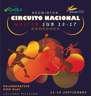 Más de 200 jugadores participarán en el Máster Nacional de Bádminton sub 13 y sub 17 de Collado Villalba