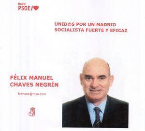 Félix Manuel Chaves Negrín, precandidato a la Secretaría General del PSM, visita Collado Villalba