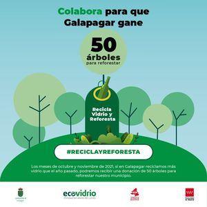 Ecovidrio invita a los vecinos de Galapagar a incrementar el reciclaje de vidrio con 'Reciclo y Reforesto'