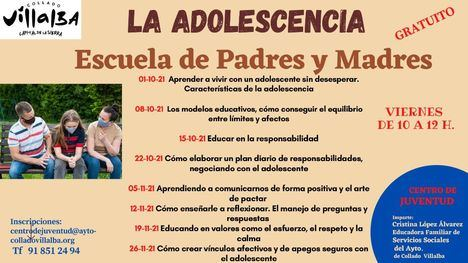 El Centro de Juventud de Collado Villalba ofrece un ciclo de charlas gratuitas para familias con hijos adolescentes