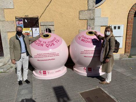 Collado Villalba colabora con la campaña 'Recicla vidrio por ellas' contra el cáncer de mama