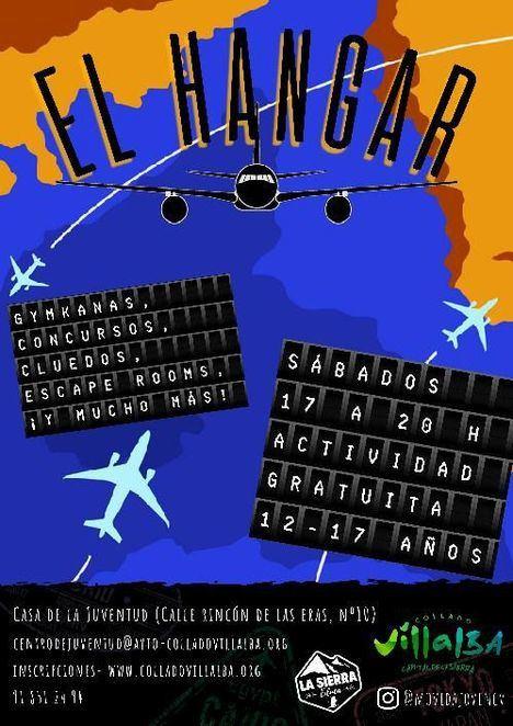 Este sábado despega en Collado Villalba el programa gratuito de ocio alternativo 'Hangar joven'