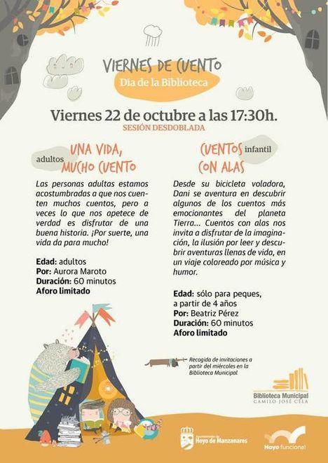 La Biblioteca Camilo José Cela de Hoyo celebra su Día este viernes con dos cuentacuentos