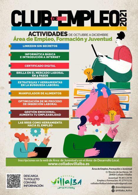 El Club de Empleo de Collado Villalba ofrece nuevos talleres gratuitos durante el otoño