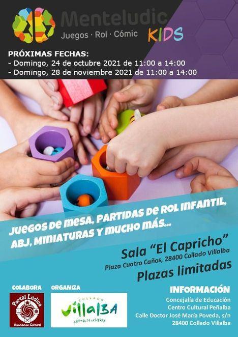 El salón El Capricho de Collado Villalba acoge una jornada de 'Ocio en Familia' el domingo