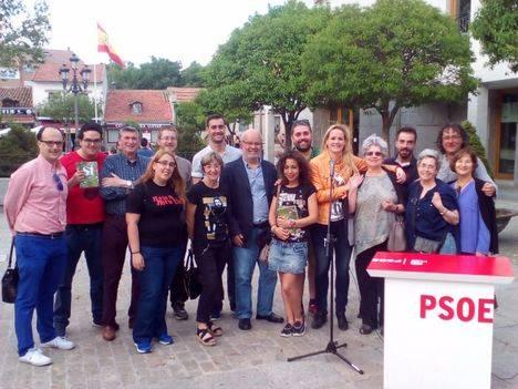 Zaida Cantera participó en un acto de precampaña del PSOE