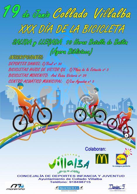 Collado Villalba celebra la XXX edición del 'Día de la Bicicleta'