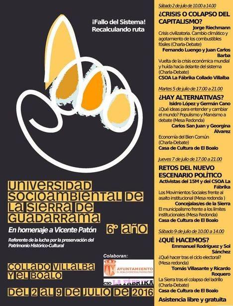VII Universidad Socioambiental de la Sierra de Guadarrama