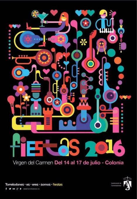 Programa de las Fiestas de la Virgen del Carmen en La Colonia
