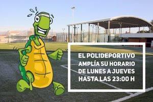 El polideportivo amplia su horario hasta las 11 de la noche
