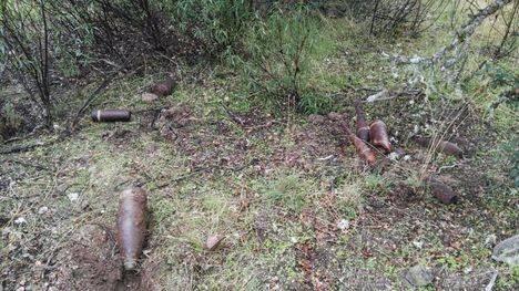 Desactivados varios obuses y granadas en la zona de Galapagar