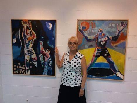 La pintora Claudine Aubrun regresa a casa
