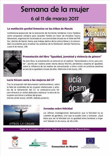 Actividades de la semana de la mujer en Colmenarejo