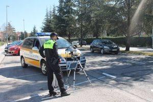 Campaña de control de velocidad con radar móvil