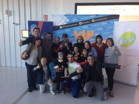 Práctica de vuelo en el túnel de viento de Madrid Fly