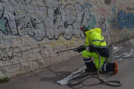 Collado Villalba se gasta más de 200.000 euros en limpiar graffitis