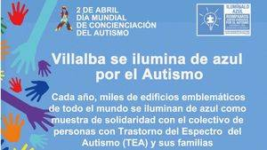 """Collado Villalba se une a la campaña """"Ilumínalo Azul"""""""