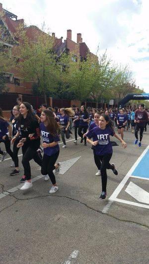 Alumnos de Boadilla corrieron junto a atletas etíopes