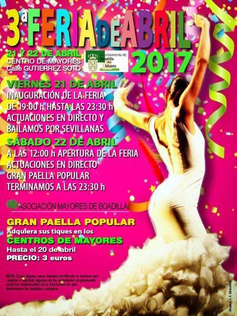 Boadilla celebra su III Feria de Abril de los mayores los días 21 y 22 de abril