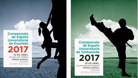Moralzarzal recibe los campeonatos universitarios de escalada y taekwondo