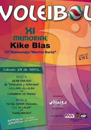 """Este sábado se celebra el """"XI Memorial de Voleibol Quique Blas"""""""