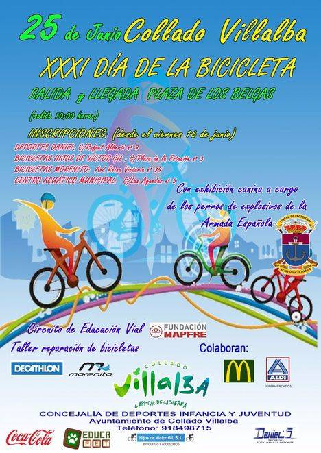 Collado Villalba celebra la XXXI edición del 'Día de la Bicicleta'