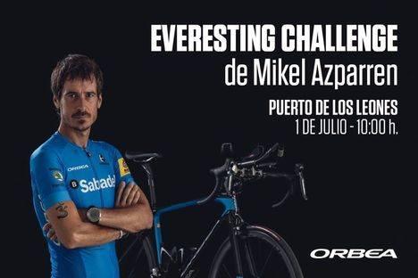 El ciclista donostiarra Mikel Azparren protagoniza el Everesting Challenge