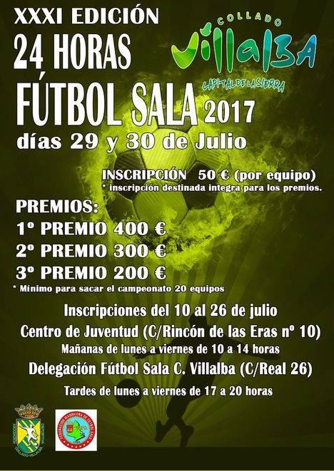 Este fin de semana se celebran las 24 Horas de Fútbol Sala de Collado Villalba