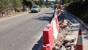 Empiezan las obras de acerado en la carretera de Torrelodones